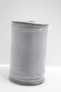 Whole Roll of 90 Metres x Braided Elastic in 1cm. White.