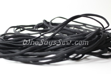 1 Metre of Soft Flat Elastic in 0.4cm/4mm in BLACK for Face Masks.