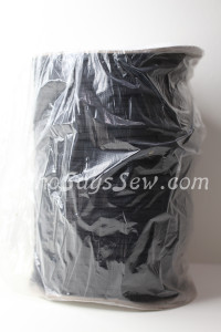 Whole Roll of 250 Metres x Soft Flat Elastic in 0.4cm/4mm for Maskmaking. Black.