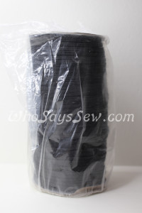 Whole Roll of 180 Metres x Braided Elastic in 0.6cm/6mm. BLACK.