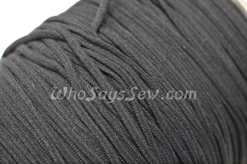 10 METRES BUNDLE of Soft Round Elastic in 0.3cm/3mm in BLACK for Face Masks.