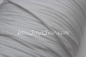10 METRES BUNDLE of Soft Round Elastic in 0.3cm/3mm in WHITE for Face Masks.