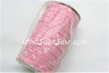 1 Metre of Braided Elastic in 0.6cm/6mm in PALE PINK.