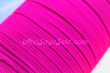 1 Metre of Braided Elastic in 0.6cm/6mm in HOT PINK.