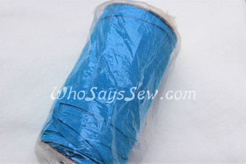 1 Metre of Braided Elastic in 0.6cm/6mm in BRIGHT BLUE.