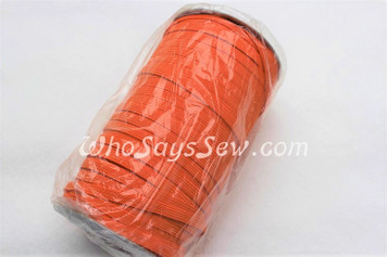 1 Metre of Braided Elastic in 0.6cm/6mm in ORANGE.