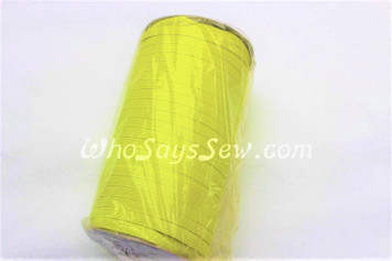 1 Metre of Braided Elastic in 0.6cm/6mm in NEON YELLOW.
