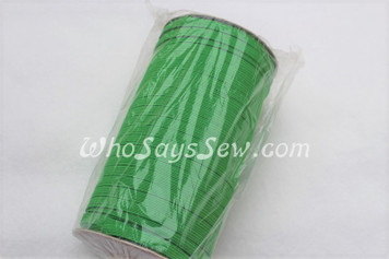 1 Metre of Braided Elastic in 0.6cm/6mm in GRASS GREEN.