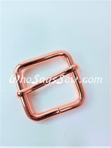 "2.5cm(1"") Thick Wire  Adjustable Strap Sliders in Rose Gold. Tall 2.5cm(1"") Internal Height. Nickel Free"