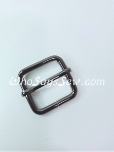 "2.5cm(1"") Thick Wire  Adjustable Strap Sliders in Gunmetal. Tall 2.5cm(1"") Internal Height. Nickel Free"