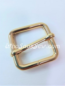 "2.5cm(1"") Thick Wire  Adjustable Strap Sliders in Real Gold. Tall 2.5cm(1"") Internal Height. Nickel Free"