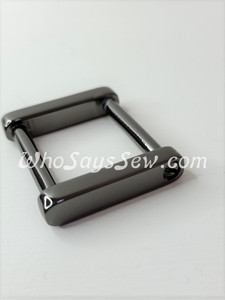 """Gunmetal 2.5cm (1"""") Rectangle Rings with a Removeable Screw-In Bar"""