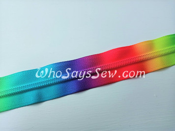 #5 SIZE 5*1m BRIGHT PRINTED RAINBOW Nylon Coil Chain/Continuous Zipper Tape