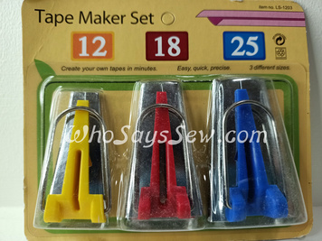 Bias Tape Maker Set- 3 Sizes 12mm, 18mm, 25mm Included