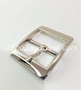 "4x Shiny Nickel 2.5cm/1"" Pin Buckles. High Quality."