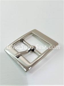 "4x Shiny Nickel 2cm/ 3/4"" Pin Buckles. High Quality."