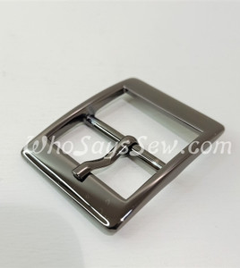 """4x Gunmetal 2.5cm/1"""" Pin Buckles. High Quality."""