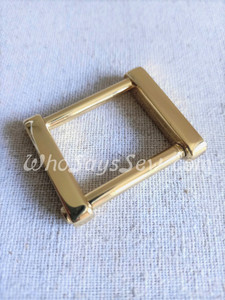 """Real Gold 2.5cm (1"""") Rectangle Rings with a Removeable Screw-In Bar"""