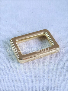 """4x 2CM (3/4"""") REAL GOLD ALLOY RECTANGLE RINGS. HIGH QUALITY."""