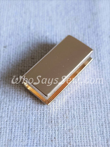 "4x Straight edge  2cm(3/4"") Strap Ends. Real Gold. Alloy Cast. High Quality."