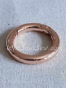 """26mm (1"""") Round Edge Gate/Spring Rings in Rose Gold"""