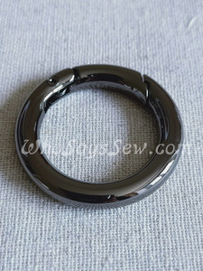 "26mm (1"") Round Edge Gate/Spring Rings in Gunmetal"
