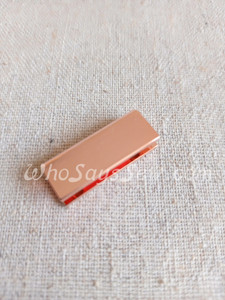 """4x Straight edge  2cm(3/4"""") Strap Ends. Rose Gold. Alloy Cast. High Quality."""
