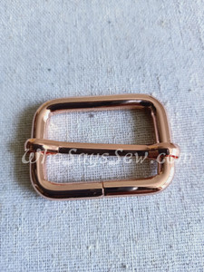 """3.2cm(1 1/4"""") Thick Wire  Adjustable Strap Sliders in Rose Gold."""