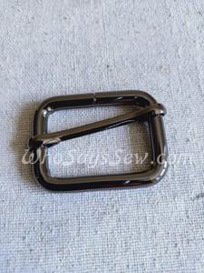 "3.2cm(1 1/4"") Thick Wire  Adjustable Strap Sliders in Gunmetal."