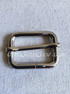 """3.2cm(1 1/4"""") Thick Wire  Adjustable Strap Sliders in Silver/Nickel"""