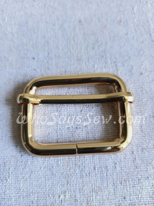 """3.2cm(1 1/4"""") Thick Wire  Adjustable Strap Sliders in Real Gold"""