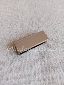 """4x Straight edge 3.3cm(1 1/4"""") Strap Ends. Silver. Alloy Cast. High Quality."""
