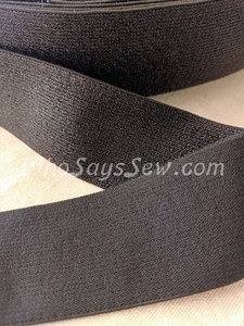 """4cm (1.5"""") Wide SUPER Soft Black Sparkly Waistband Elastic- By the Metre"""