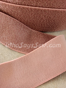 """4cm (1.5"""") Wide SUPER Soft PINK Sparkly Waistband Elastic- By the Metre"""