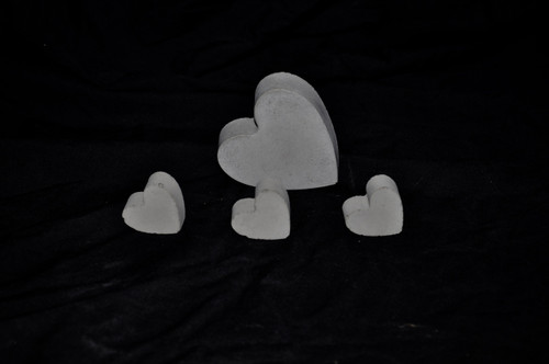 3 minis and 1 normal heart from our other heart set.