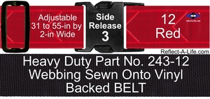 Belt Red Heavy Duty 2-in Side Release Buckle