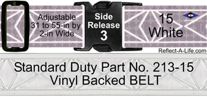 Belt ANSI White Standard Duty 2-in Side Release Buckle