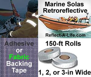 Marine Solas Retro Reflective Tape 150ftx3in