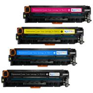 1 Go Inks Set of 4 Laser Toner Cartridges to replace HP CF210X / CF211A / CF212A / CF213A Compatible / non-OEM for HP Colour & Pro Laserjet Printers