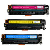 1 Go Inks Set of 3 C/M/Y Laser Toner Cartridges to replace HP CE411A / CE412A / CE413A Compatible / non-OEM for HP Colour & Pro Laserjet Printers