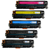 1 Go Inks Set of 4 + extra black Laser Toner Cartridges to replace HP CE410X / CE411A / CE412A / CE413A  Compatible / non-OEM for HP Colour & Pro Laserjet Printers