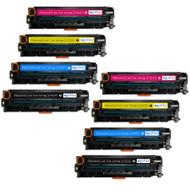 2 Go Inks Set of 4 Laser Toner Cartridges to replace HP CE410X / CE411A / CE412A / CE413A Compatible / non-OEM for HP Colour & Pro Laserjet Printers