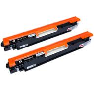 2 Go Inks Black Laser Toner Cartridges to replace HP CE310A Compatible / non-OEM for HP Colour & Pro Laserjet Printers