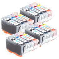 4 Go Inks Compatible Sets of 4 HP 364 XL Printer Ink Cartridges Compatible / non-OEM for HP Photosmart Printers (16 Inks)