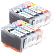 2 Go Inks Compatible Sets of 4 HP 364 XL Printer Ink Cartridges Compatible / non-OEM for HP Photosmart Printers (8 Inks)
