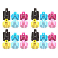 4 Go Inks Compatible Set of 6 to replace HP 363 Printer Ink Cartridge (24 Inks) - Black, Cyan,  Magenta, Yellow, Light Cyan, Light Magenta Compatible / non-OEM for HP Photosmart Printers