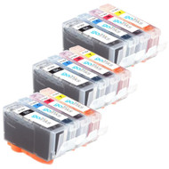 3 Go Inks Compatible Sets of 4 HP 364 XL Printer Ink Cartridges Compatible / non-OEM for HP Photosmart Printers (12 Inks)
