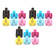 3 Go Inks Compatible Set of 6 to replace HP 363 Printer Ink Cartridge - Black, Cyan,  Magenta, Yellow, Light Cyan, Light Magenta Compatible / non-OEM for HP Photosmart Printers