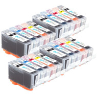 4 Go Inks Compatible Sets of 5 HP 364 XL Printer Ink Cartridges Compatible / non-OEM for HP Photosmart Printers (20 Inks)