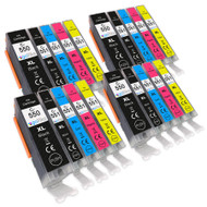 4 Go Inks Set of 5 Ink Cartridges to replace Canon PGI-550 & CLI-551 Compatible / non-OEM for PIXMA Printers (20 Pack)